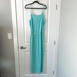 NEW LOVE FIRE / BLUE STRIPED MAXI DRESS